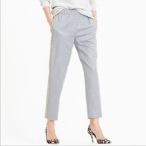 J. Crew Collection Italian Wool Beaded Pants Grey